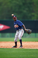 Atlanta Braves Ozzie Albies (18) during an intrasquad Spring Training game on March 29, 2016 at ESPN Wide World of Sports Complex in Orlando, Florida.  (Mike Janes/Four Seam Images)
