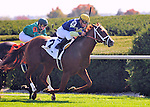 Bridgetown and Javier Castellano win the Woodford at Keeneland Racecourse.October 6, 2012.