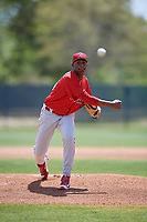 Philadelphia Phillies pitcher Sixto Sanchez (66) delivers a pitch during a minor league Spring Training game against the Pittsburgh Pirates on March 24, 2017 at Carpenter Complex in Clearwater, Florida.  (Mike Janes/Four Seam Images)