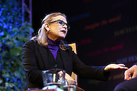Saturday 24 May 2014, Hay on Wye UK<br /> Pictured: Carrie Fisher.<br /> Re: The Telegraph Hay Festival, Hay on Wye, Powys, Wales UK.