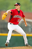 Starting pitcher Will Lamb #11 of the Hickory Crawdads in action against the Greenville Drive at L.P. Frans Stadium on September 3, 2011 in Hickory, North Carolina.  The Crawdads defeated the Drive 3-0.  (Brian Westerholt / Four Seam Images)