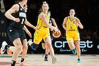 Melbourne, 15 August 2015 - Rachel JARRY of Australia in action during game one of the 2015 FIBA Oceania Championships in women's basketball between the Australian Opals and the New Zealand Tall Ferns at Rod Laver Arena in Melbourne, Australia. Aus def NZ 61-41. (Photo Sydney Low / sydlow.com)