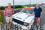 Martin Quirke and Thomas Ashe from Camp with their car at the Vintage Car run in Churchill on Saturday.