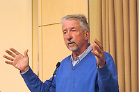 """Tom Hayden civil rights and anti war activist speaking at conference """"New Strategies for the Obama Era"""" at Tufts University 3.28.09"""