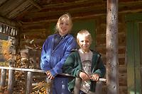 Julia and Leo Hicker, Wiseman, Alaska.