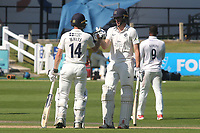 Middlesex batsmen, Robbie White and Martin Andersson during Sussex CCC vs Middlesex CCC, LV Insurance County Championship Division 3 Cricket at The 1st Central County Ground on 7th September 2021