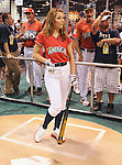 Maria Menounos at the MLB All Star Fanfest Batting Practice held at The Anaheim Convention Center , the precursor to The All Star Legends Celebrity Softball game in Anaheim, California on July 11,2010                                                                               © 2010 Debbie VanStory / Hollywood Press Agency