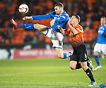 Dundee United v St Johnstone...12.03.14    SPFL<br /> James Dunne and John Rankin<br /> Picture by Graeme Hart.<br /> Copyright Perthshire Picture Agency<br /> Tel: 01738 623350  Mobile: 07990 594431