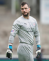 Raith Rovers' keeper Kevin Cuthbert makes his debut.