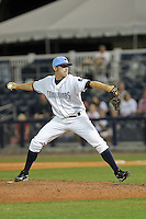May 18, 2010 Pitcher Zachary Quate of the Charlotte Stone Crabs delivers a pitch during a game at Charlotte Sports Park in Port Charlotte FL. The Stone Crabs are the Florida State League Class-A affiliate of the Tampa Bay Rays,  Photo by: Mark LoMoglio/Four Seam Images