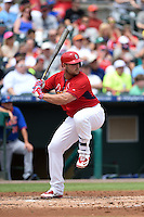 St. Louis Cardinals Matt Holliday (7) during a Spring Training game against the New York Mets on April 2, 2015 at Roger Dean Stadium in Jupiter, Florida.  The game ended in a 0-0 tie.  (Mike Janes/Four Seam Images)
