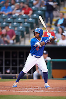 Oklahoma City Dodgers second baseman Willie Calhoun (4) at bat during against the Colorado Springs Sky Sox on June 2, 2017 at Chickasaw Bricktown Ballpark in Oklahoma City, Oklahoma.  Colorado Springs defeated Oklahoma City 1-0 in ten innings.  (Mike Janes/Four Seam Images)