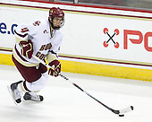 Tommy Cross (BC - 4) - The Boston College Eagles defeated the Merrimack College Warriors 4-3 on Friday, October 30, 2009, at Conte Forum in Chestnut Hill, Massachusetts.
