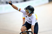Jessie Hodges finishes first in the Women Elite Omnium Points Race 20km during the 2020 Vantage Elite and U19 Track Cycling National Championships at the Avantidrome in Cambridge, New Zealand on Friday, 24 January 2020. ( Mandatory Photo Credit: Dianne Manson )