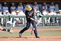 CHAPEL HILL, NC - MARCH 08: Spencer Myers #2 of the University of Notre Dame hits the ball during a game between Notre Dame and North Carolina at Boshamer Stadium on March 08, 2020 in Chapel Hill, North Carolina.