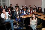 Listening to a presentation. Conference of Youth, COP 15, Denmark (©Robert vanWaarden