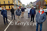 Members of Chamber of Alliance and Businesses in Milltown, gathered together on Saturday morning about their concerns for the viability and the future of Milltown. Front right: Stewart Stevens. Back l to r: Gerry Casey, Kenny O'Neill, James Arthur Murphy, Seamus Kelly, John Burke and Mike McCarthy Larkin.
