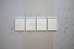 """PIERRE HUYGHE<br /> <br /> la partition """"Silence Score"""", 1997, est la transcription des sons imperceptibles tirés de l'enregistrement, en 1952, de 4'33"""" de John Cage, pièce durant laquelle, les musiciens ayant posé leurs instruments, le public est invité à faire l'expérience du silence.<br /> Lieu : Centre Pompidou<br /> Ville : Paris<br /> Le : 24/11/2013"""