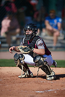 Stephen Castillo (7) of East Bernard High School in East Bernard, Texas during the Baseball Factory All-America Pre-Season Tournament, powered by Under Armour, on January 13, 2018 at Sloan Park Complex in Mesa, Arizona.  (Mike Janes/Four Seam Images)