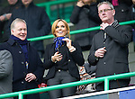 Hibs v St Johnstone...21.01.12.Maria Fowler girlfriend of St Johnstone's Lee Croft pictured with St Johnstone Directors Gary Whyte (left) and Stan Harris..Picture by Graeme Hart..Copyright Perthshire Picture Agency.Tel: 01738 623350  Mobile: 07990 594431