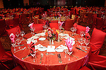A sea of red tables at the San Jose Clinic Art with Heart Gala at the InterContinental Hotel Saturday May 15,2010.  (Dave Rossman Photo)