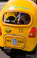 Havana capitol city of Cuba close up of local coc taxis for transportation