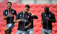 Lincoln City's Max Melbourne during the pre-match warm-up<br /> <br /> Photographer Chris Vaughan/CameraSport<br /> <br /> EFL Leasing.com Trophy - Northern Section - Group H - Doncaster Rovers v Lincoln City - Tuesday 3rd September 2019 - Keepmoat Stadium - Doncaster<br />  <br /> World Copyright © 2018 CameraSport. All rights reserved. 43 Linden Ave. Countesthorpe. Leicester. England. LE8 5PG - Tel: +44 (0) 116 277 4147 - admin@camerasport.com - www.camerasport.com