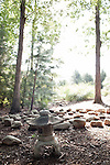 July 29, 2011. Cary, NC..  The Meditation Garden is provided for employees in the woods behind the free of charge gym and pool complex.. Profile of SAS, a software company that has many amenities for its employees.