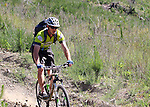 Nigel Rogers eases down the slope. Mammoth Adventure MTB Ride, Nelson<br /> Photo: Marc Palmano/shuttersport.co.nz
