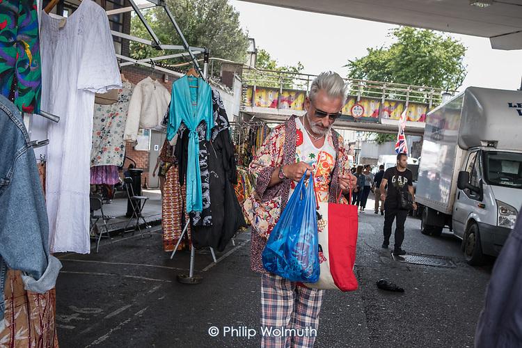 Portobello Road market, North Kensington, London.
