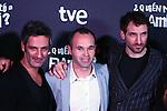 Premiere in Barcelona: ¿Quien mato a Bambi?<br /> Ernesto Alterio, Andres Iniesta & Julian Villagran.