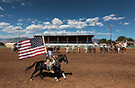 Jimmy Lee rides in the opening ceremonies of the Minden Ranch Rodeo on Sunday, July 22, 2012..Photo by Cathleen Allison