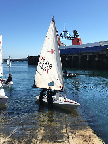 Laser training at the Royal St. George Yacht Club in Dun Laoghaire Harbour Photo: Rachel Crowley