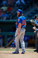 Tennessee Smokies Jesse Hodges (36) at bat during a Southern League game against the Jacksonville Jumbo Shrimp on April 29, 2019 at Baseball Grounds of Jacksonville in Jacksonville, Florida.  Tennessee defeated Jacksonville 4-1.  (Mike Janes/Four Seam Images)