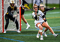 17 April 2021: University of Vermont Catamount Attacker Dani Paterno, a Junior from Mullica Hill, NJ,  in action against the UMBC Retrievers at Virtue Field in Burlington, Vermont. The Lady Cats fell to the Retrievers 11-8 in the America East Women's Lacrosse matchup. Mandatory Credit: Ed Wolfstein Photo *** RAW (NEF) Image File Available ***