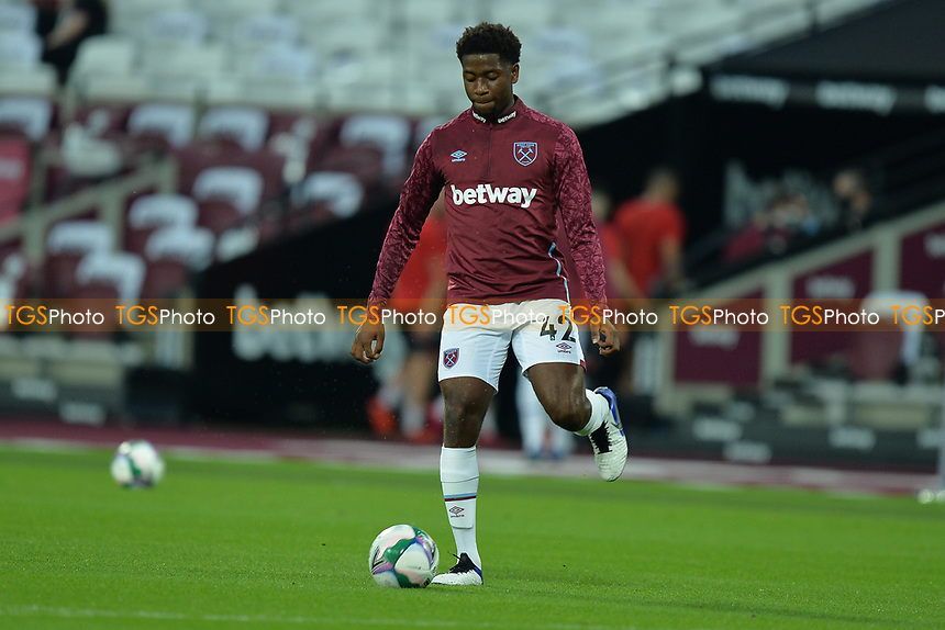 Ajibola Alese of West Ham United during West Ham United vs Charlton Athletic, Caraboa Cup Football at The London Stadium on 15th September 2020