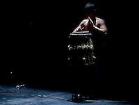 BOGOTÁ-COLOMBIA-02-04-2014. Presentación de Abada Capoeira en  La Casa del Teatro Nacional en el XIV Festival Iberoamericano de Teatro de Bogotá 2014./  Show of Abada Capoeira performance played at La Casa del Teatro Nacional as a part of  schedule of the XIV Ibero-American Theater Festival to be Helm in Bogota 2014.  Photo: VizzorImage/ Gabriel Aponte /Staff