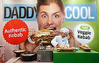 Nederland - Amsterdam - Januari 2019.  HORECAVA. Er zijn dit jaar veel gezonde, vegetarische en duurzame producten te zien en te proeven tijdens de HORECAVA. Daddy Cool. Authentic kebab and Veggie kebab.    Foto Berlinda van Dam / Hollandse Hoogte
