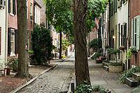 Townhouse, Quince Street, Old City, Philadelphia, Pennsylvania, USA