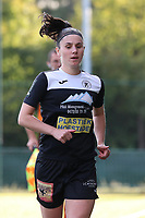 Aalst's Annelies Van Loock (9) pictured during a female soccer game between Oud Heverlee Leuven and Eendracht Aalst Ladies  on the third matchday of the 2020 - 2021 season of Belgian Womens Super League , Sunday 4 th of October 2020  in Heverlee , Belgium . PHOTO SPORTPIX.BE | SPP | SEVIL OKTEM