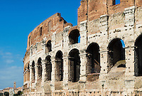 Exterior of the Colosseum, Rome Italy