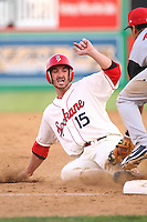 July 21st 2008:  Justin Pickett of the Spokane Indians, Short Season Class-A affiliate of the Texas Rangers, during a game at Home of the Avista Stadium in Spokane, WA.  Photo by:  Matthew Sauk/Four Seam Images