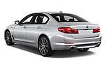 Car pictures of rear three quarter view of a 2018 BMW 5 Series Plug-In Hybrid 530e Sport 4 Door Sedan angular rear