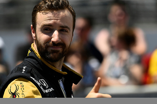 Verizon IndyCar Series<br /> Indianapolis 500 Carb Day<br /> Indianapolis Motor Speedway, Indianapolis, IN USA<br /> Friday 26 May 2017<br /> James Hinchcliffe, Schmidt Peterson Motorsports Honda during the pit stop competition<br /> World Copyright: Scott R LePage<br /> LAT Images<br /> ref: Digital Image lepage-170526-indy-9342