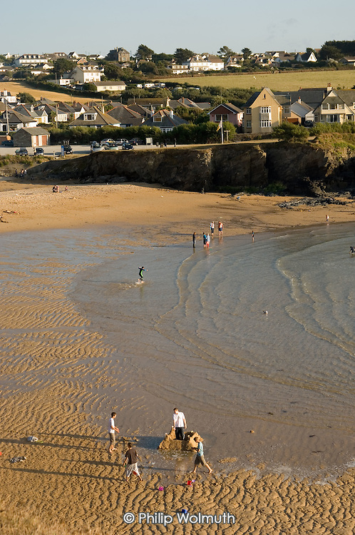 The beach at Trevone, in North Cornwall.