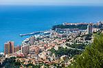 Fuerstentum Monaco, an der Côte d'Azur: Blick auf Monaco mit dem Stadtteil Monte Carlo | Principality of Monaco, on the French Riviera (Côte d'Azur): view across Monaco with district Monte Carlo