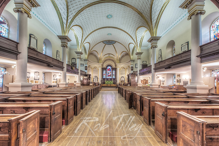 Canada, Quebec, Quebec City, Cathedral of the Holy Trinity Interior, the first Anglican cathedral built in North America