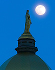 Dome and moon.<br /> <br /> Photo by Matt Cashore