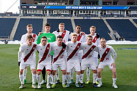 Chester, PA - Sunday December 10, 2017: Indiana University Starting Eleven during the NCAA 2017 Men's College Cup championship match between the Stanford Cardinal and the Indiana Hoosiers at Talen Energy Stadium.
