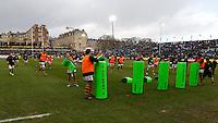 Photo: Richard Lane/Richard Lane Photography. Bath Rugby v Wasps. Aviva Premiership. 04/02/2017. Wasps warm up.